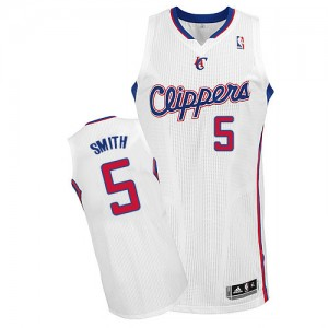 Maillot NBA Blanc Josh Smith #5 Los Angeles Clippers Home Authentic Homme Adidas