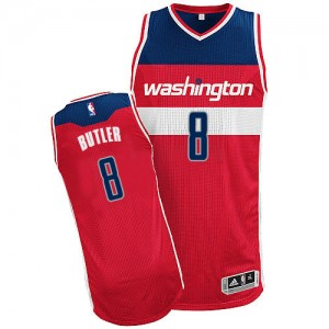 Maillot Adidas Rouge Road Authentic Washington Wizards - Rasual Butler #8 - Homme