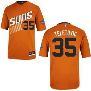 Phoenix Suns Mirza Teletovic #35 Alternate Authentic Maillot d'équipe de NBA - Orange pour Homme