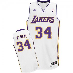 Maillot Swingman Los Angeles Lakers NBA Alternate Blanc - #34 Shaquille O'Neal - Homme