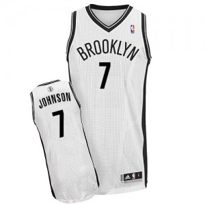 Maillot Authentic Brooklyn Nets NBA Home Blanc - #7 Joe Johnson - Homme