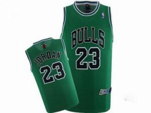 Chicago Bulls Michael Jordan #23 Throwback Swingman Maillot d'équipe de NBA - Vert pour Homme