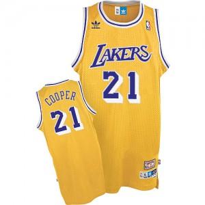 Los Angeles Lakers #21 Mitchell and Ness Throwback Or Swingman Maillot d'équipe de NBA en vente en ligne - Michael Cooper pour Homme