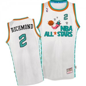Maillot NBA Sacramento Kings #2 Mitch Richmond Blanc Mitchell and Ness Swingman Throwback 1996 All Star - Homme