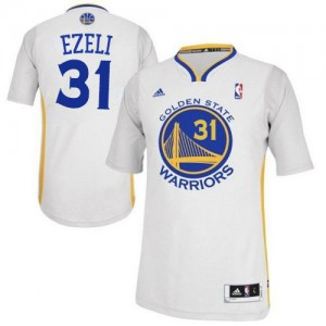 Maillot NBA Authentic Festus Ezeli #31 Golden State Warriors Alternate Blanc - Homme