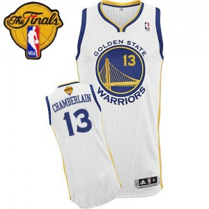Golden State Warriors #13 Adidas Home 2015 The Finals Patch Blanc Authentic Maillot d'équipe de NBA prix d'usine en ligne - Wilt Chamberlain pour Homme