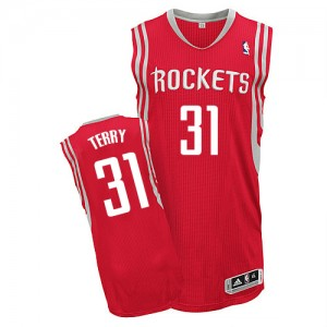 Maillot NBA Authentic Jason Terry #31 Houston Rockets Road Rouge - Homme