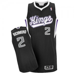Maillot NBA Sacramento Kings #2 Mitch Richmond Noir Adidas Authentic Alternate - Homme