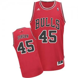 Maillot NBA Swingman Michael Jordan #45 Chicago Bulls Road Rouge - Homme