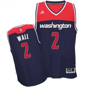 Washington Wizards #2 Adidas Alternate Bleu marin Authentic Maillot d'équipe de NBA magasin d'usine - John Wall pour Homme
