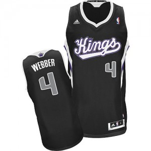 Maillot NBA Swingman Chris Webber #4 Sacramento Kings Alternate Noir - Homme