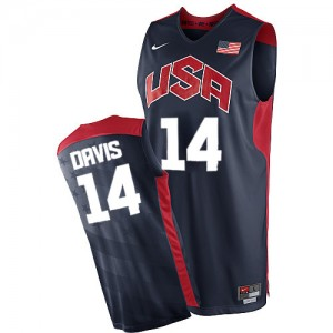 Maillot NBA Team USA #14 Anthony Davis Bleu marin Nike Authentic 2012 Olympics - Homme