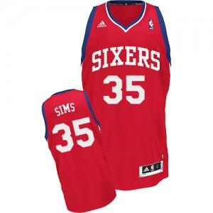 Maillot Adidas Rouge Road Swingman Philadelphia 76ers - Henry Sims #35 - Homme