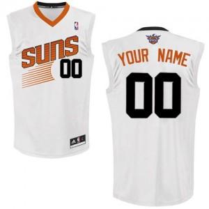 Maillot NBA Phoenix Suns Personnalisé Authentic Blanc Adidas Home - Homme