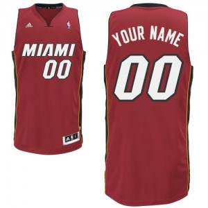 Maillot Adidas Rouge Alternate Miami Heat - Swingman Personnalisé - Enfants