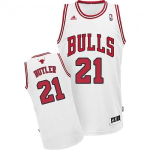 Maillot Swingman Chicago Bulls NBA Home Blanc - #21 Jimmy Butler - Homme