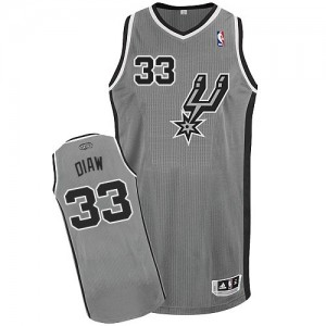 Maillot Authentic San Antonio Spurs NBA Alternate Gris argenté - #33 Boris Diaw - Homme