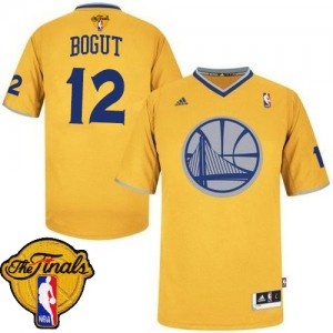 Maillot Adidas Or 2013 Christmas Day 2015 The Finals Patch Swingman Golden State Warriors - Andrew Bogut #12 - Homme