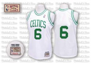 Maillot Mitchell and Ness Blanc Throwback Authentic Boston Celtics - Bill Russell #6 - Homme