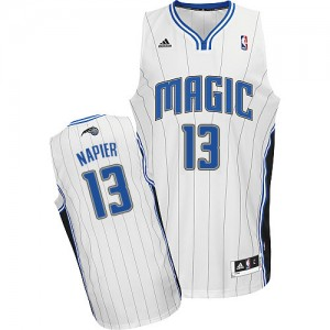 Maillot NBA Orlando Magic #13 Shabazz Napier Blanc Adidas Swingman Home - Homme