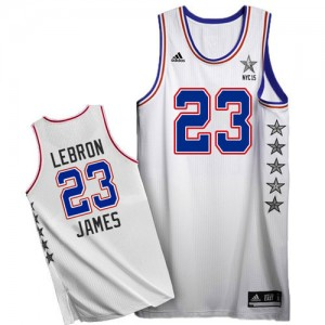 Cleveland Cavaliers #23 Adidas 2015 All Star Blanc Authentic Maillot d'équipe de NBA Discount - LeBron James pour Homme