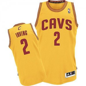Maillot NBA Authentic Kyrie Irving #2 Cleveland Cavaliers Alternate Or - Homme