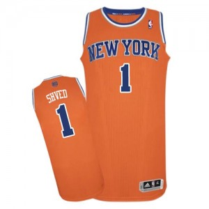 New York Knicks Alexey Shved #1 Alternate Authentic Maillot d'équipe de NBA - Orange pour Homme