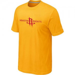 T-Shirts Jaune Big & Tall Houston Rockets - Homme