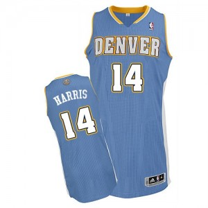 Maillot NBA Authentic Gary Harris #14 Denver Nuggets Road Bleu clair - Homme