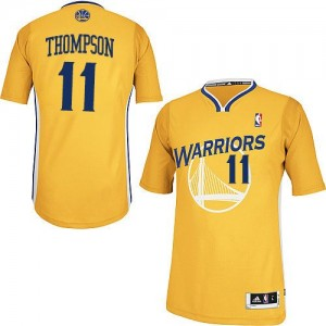 Golden State Warriors Klay Thompson #11 Alternate Authentic Maillot d'équipe de NBA - Or pour Femme
