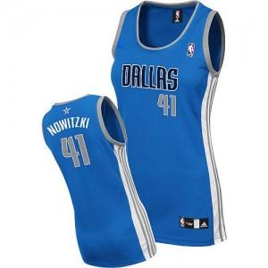 Dallas Mavericks #41 Adidas Road Bleu royal Authentic Maillot d'équipe de NBA la vente - Dirk Nowitzki pour Femme