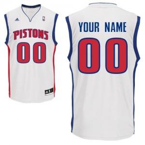 Maillot NBA Blanc Swingman Personnalisé Detroit Pistons Home Homme Adidas