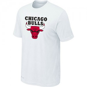 T-shirt à manches courtes Chicago Bulls NBA Big & Tall Blanc - Homme