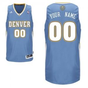 Maillot NBA Bleu clair Swingman Personnalisé Denver Nuggets Road Homme Adidas