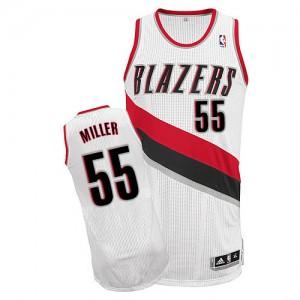 Portland Trail Blazers Mike Miller #55 Home Authentic Maillot d'équipe de NBA - Blanc pour Homme