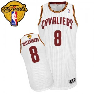 Maillot NBA Authentic Matthew Dellavedova #8 Cleveland Cavaliers Home 2015 The Finals Patch Blanc - Homme