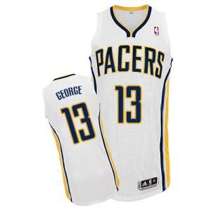 Indiana Pacers #13 Adidas Home Blanc Authentic Maillot d'équipe de NBA vente en ligne - Paul George pour Enfants