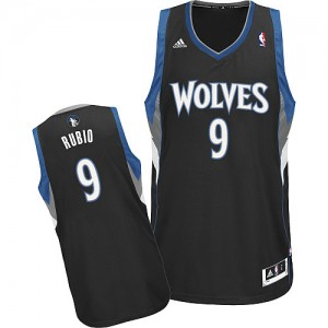 Maillot Swingman Minnesota Timberwolves NBA Alternate Noir - #9 Ricky Rubio - Enfants