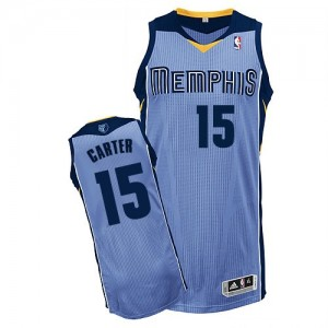 Maillot NBA Authentic Vince Carter #15 Memphis Grizzlies Alternate Bleu clair - Homme