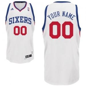Maillot NBA Philadelphia 76ers Personnalisé Swingman Blanc Adidas Home - Enfants