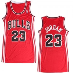 Maillot NBA Chicago Bulls #23 Michael Jordan Rouge Adidas Authentic Dress - Femme
