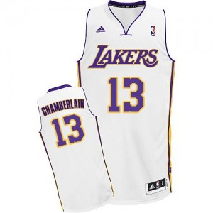 Maillot Adidas Blanc Alternate Swingman Los Angeles Lakers - Wilt Chamberlain #13 - Homme