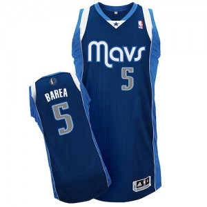 Maillot Adidas Bleu marin Alternate Authentic Dallas Mavericks - Jose Juan Barea #5 - Homme