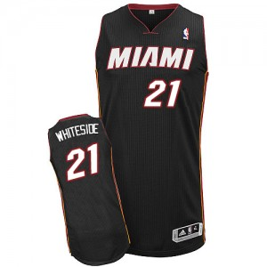 Maillot Authentic Miami Heat NBA Road Noir - #21 Hassan Whiteside - Homme