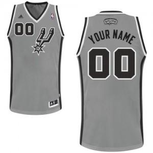San Antonio Spurs Personnalisé Adidas Alternate Gris argenté Maillot d'équipe de NBA Vente - Swingman pour Enfants
