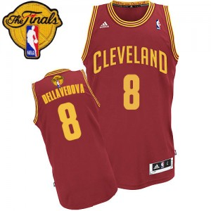 Maillot NBA Swingman Matthew Dellavedova #8 Cleveland Cavaliers Road 2015 The Finals Patch Vin Rouge - Homme