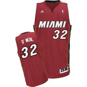 Miami Heat Shaquille O'Neal #32 Alternate Swingman Maillot d'équipe de NBA - Rouge pour Homme