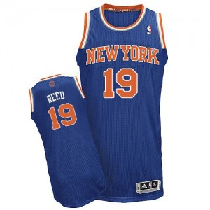 Maillot Adidas Bleu royal Road Authentic New York Knicks - Willis Reed #19 - Homme