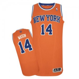 New York Knicks Anthony Mason #14 Alternate Authentic Maillot d'équipe de NBA - Orange pour Homme
