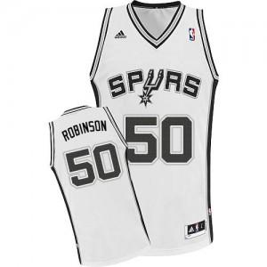 San Antonio Spurs #50 Adidas Home Blanc Swingman Maillot d'équipe de NBA Remise - David Robinson pour Homme